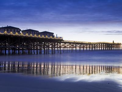 Crystal Pier on Pacific Beach, San Diego, California, United States of America, North America-Richard Cummins-Photographic Print