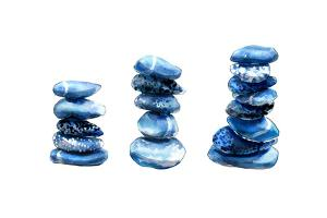 Sea Blue Stones by Crystal Smith