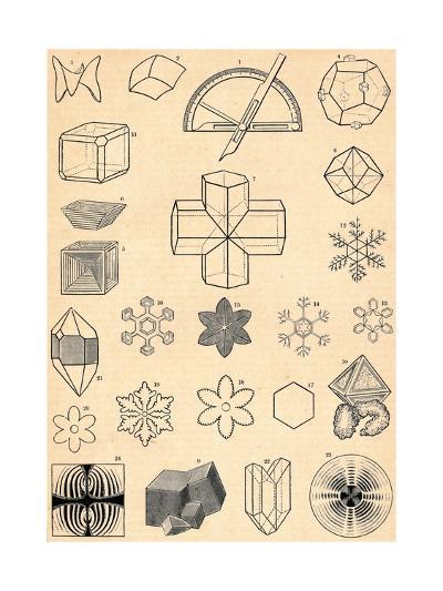 Crystallography, C19th Century--Giclee Print