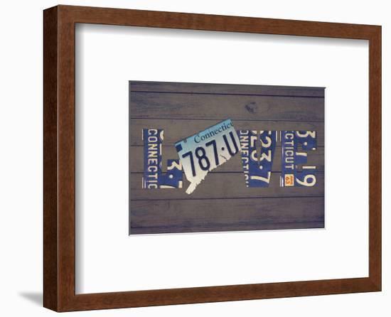 CT State Love-Design Turnpike-Framed Giclee Print