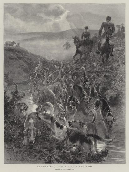 Cub-Hunting, a Spin across the Moor-John Charlton-Giclee Print