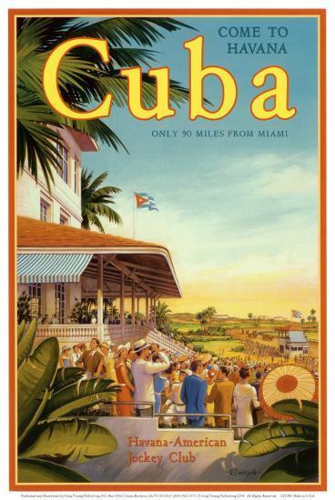 Cuba and American Jockey-Kerne Erickson-Art Print