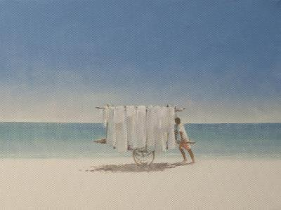 Cuba Beach Seller, 2010-Lincoln Seligman-Giclee Print