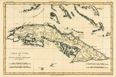 Cuba, from 'Atlas De Toutes Les Parties Connues Du Globe Terrestre' by Guillaume Raynal (1713-96)?-Charles Marie Rigobert Bonne-Giclee Print