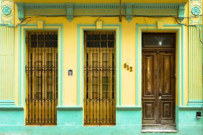 Cuba Fuerte Collection - 612 Street Havana - Yellow and Green-Philippe Hugonnard-Photographic Print