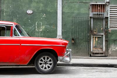 Cuba Fuerte Collection - 615 Street and Red Car-Philippe Hugonnard-Photographic Print