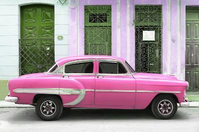 Cuba Fuerte Collection - 66 Street Havana Pink Car-Philippe Hugonnard-Photographic Print