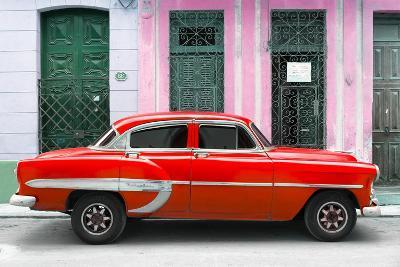 Cuba Fuerte Collection - 66 Street Havana Red Car-Philippe Hugonnard-Photographic Print