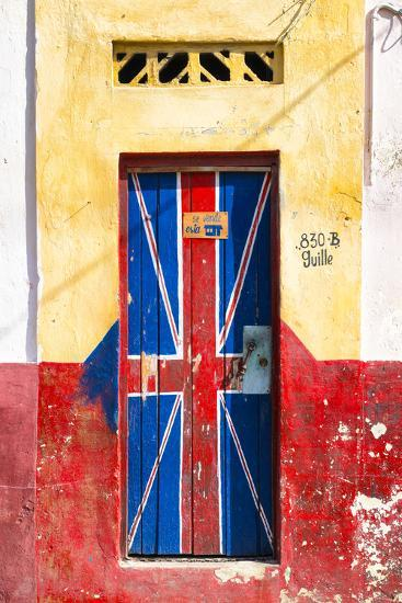 "Cuba Fuerte Collection - ""830 Guille"" English Door-Philippe Hugonnard-Photographic Print"