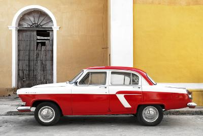 Cuba Fuerte Collection - American Classic Car White and Red-Philippe Hugonnard-Photographic Print