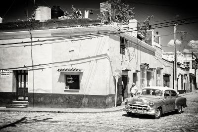 Cuba Fuerte Collection B&W - American Car in Trinidad-Philippe Hugonnard-Photographic Print
