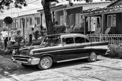 Cuba Fuerte Collection B&W - American Classic Car - Chevrolet II-Philippe Hugonnard-Photographic Print