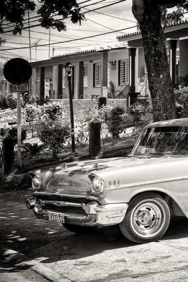 Cuba Fuerte Collection B&W - American Classic Car - Chevrolet III-Philippe Hugonnard-Photographic Print