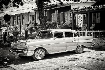 Cuba Fuerte Collection B&W - American Classic Car - Chevrolet-Philippe Hugonnard-Photographic Print