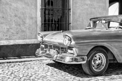 Cuba Fuerte Collection B&W - American Classic Car in Trinidad V-Philippe Hugonnard-Photographic Print