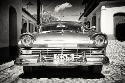 Cuba Fuerte Collection B&W - American Classic Car in Trinidad VI-Philippe Hugonnard-Photographic Print