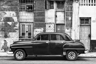 Cuba Fuerte Collection B&W - Black Car in Havana-Philippe Hugonnard-Photographic Print