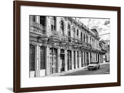 Cuba Fuerte Collection B&W - Car on Street of Havana-Philippe Hugonnard-Framed Photographic Print