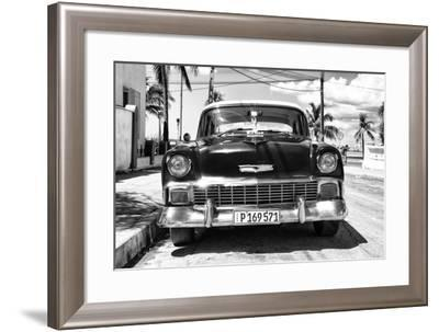 Cuba Fuerte Collection B&W - Chevy Classic Car II-Philippe Hugonnard-Framed Photographic Print
