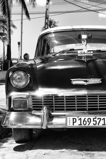 Cuba Fuerte Collection B&W - Chevy Classic Car IV-Philippe Hugonnard-Photographic Print