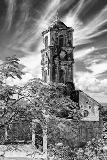Cuba Fuerte Collection B&W - Church of Santa Ana in Trinidad IV-Philippe Hugonnard-Photographic Print