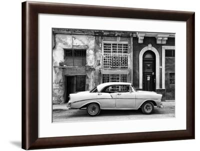 Cuba Fuerte Collection B&W - Classic American Car in Havana II-Philippe Hugonnard-Framed Photographic Print