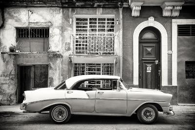 Cuba Fuerte Collection B&W - Classic American Car in Havana-Philippe Hugonnard-Photographic Print