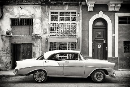 Cuba Fuerte Collection B&W - Classic American Car in Havana-Philippe Hugonnard-Photographic Print