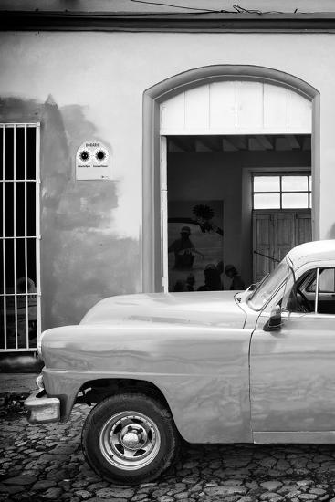 Cuba Fuerte Collection B&W - Classic Car II-Philippe Hugonnard-Photographic Print