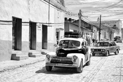 Cuba Fuerte Collection B&W - Classic Cars Taxis II-Philippe Hugonnard-Photographic Print