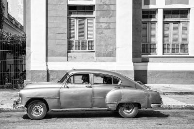 Cuba Fuerte Collection B&W - Cuban Taxi II-Philippe Hugonnard-Photographic Print