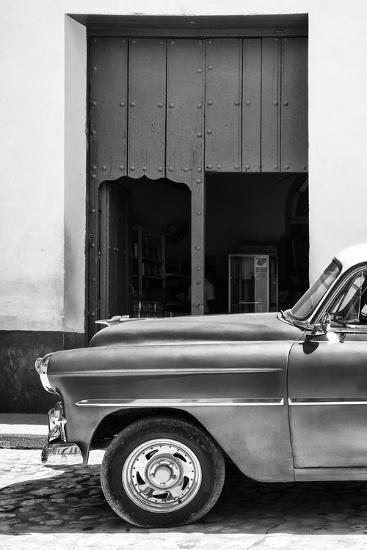 Cuba Fuerte Collection B&W - Detail of Classic Car II-Philippe Hugonnard-Photographic Print