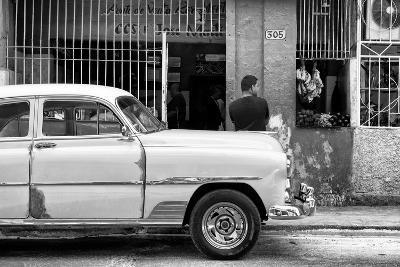 Cuba Fuerte Collection B&W - Havana Street Scene-Philippe Hugonnard-Photographic Print