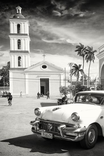 Cuba Fuerte Collection B&W - Iglesia San Juan Bautista de Remedios-Philippe Hugonnard-Photographic Print