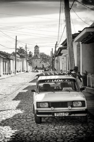 Cuba Fuerte Collection B&W - Lada Taxi in Trinidad III-Philippe Hugonnard-Photographic Print