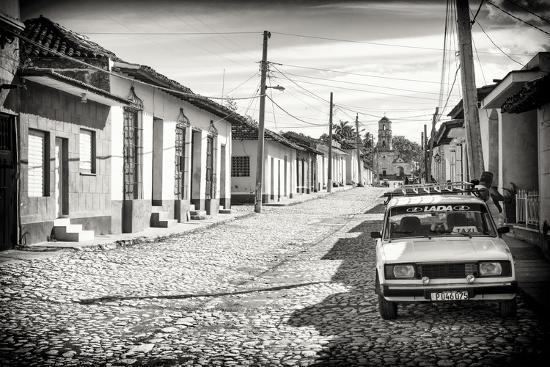 Cuba Fuerte Collection B&W - Lada Taxi in Trinidad-Philippe Hugonnard-Photographic Print