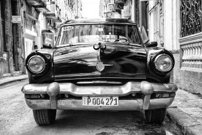 Cuba Fuerte Collection B&W - Old American Taxi Car II-Philippe Hugonnard-Photographic Print