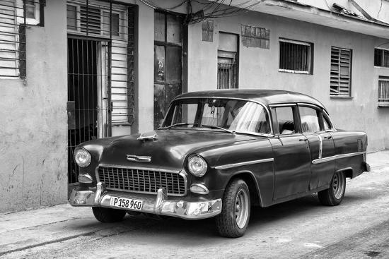 Cuba Fuerte Collection B&W - Old Antique Car in Havana VIII-Philippe Hugonnard-Photographic Print