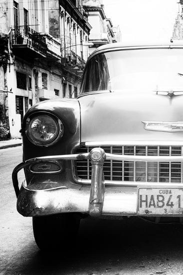 Cuba Fuerte Collection B&W - Old Chevrolet in Havana V-Philippe Hugonnard-Photographic Print