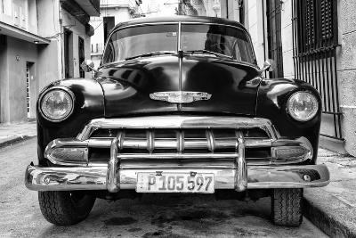 Cuba Fuerte Collection B&W - Old Classic Chevy III-Philippe Hugonnard-Photographic Print