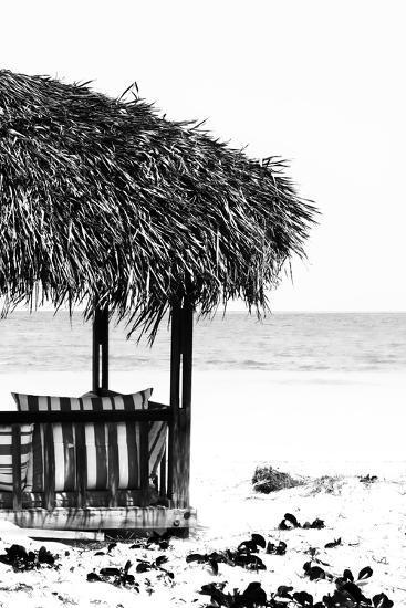 Cuba Fuerte Collection B&W - Quiet Beach II-Philippe Hugonnard-Photographic Print