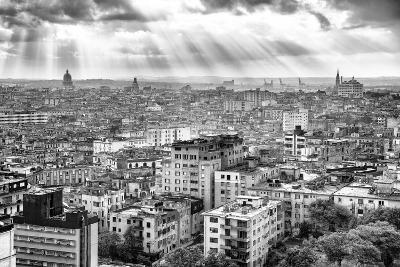 Cuba Fuerte Collection B&W - Rays of Light - Havana-Philippe Hugonnard-Photographic Print