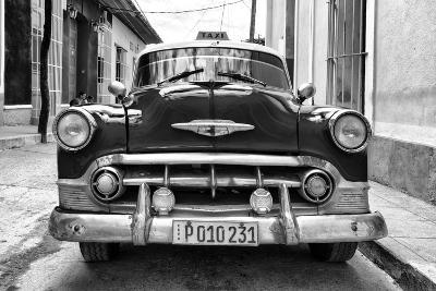 Cuba Fuerte Collection B&W - Retro Taxi III-Philippe Hugonnard-Photographic Print