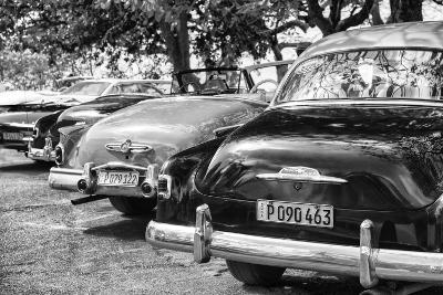 Cuba Fuerte Collection B&W - Retro Vintage Cars II-Philippe Hugonnard-Photographic Print