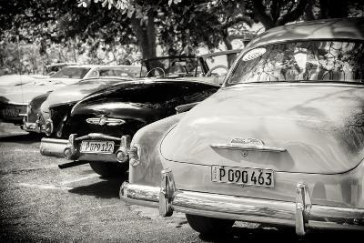 Cuba Fuerte Collection B&W - Retro Vintage Cars-Philippe Hugonnard-Photographic Print