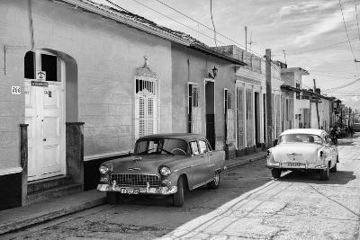 Cuba Fuerte Collection B&W - Sancti Spiritus Street Scene II-Philippe Hugonnard-Photographic Print