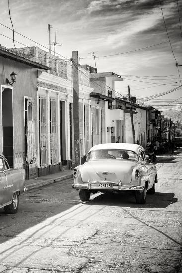 Cuba Fuerte Collection B&W - Sancti Spiritus Street Scene III-Philippe Hugonnard-Photographic Print