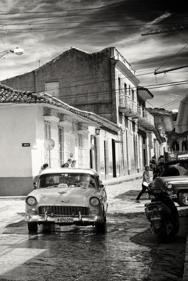 Cuba Fuerte Collection B&W - Taxi Trinidad-Philippe Hugonnard-Photographic Print