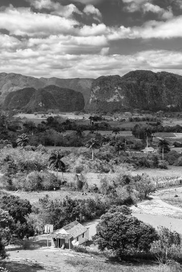 Cuba Fuerte Collection B&W - Vinales Valley IV-Philippe Hugonnard-Photographic Print