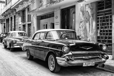 Cuba Fuerte Collection B&W - Vintage Chevrolet Classic Car-Philippe Hugonnard-Photographic Print